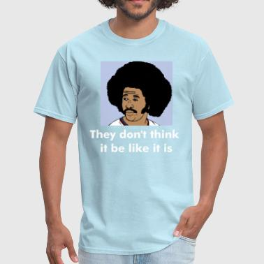 Funny Quotes Gambling Afro - Men's T-Shirt