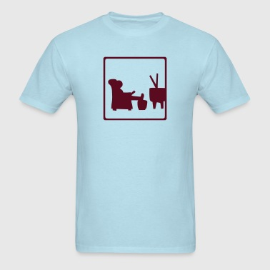 Watching TV - Men's T-Shirt