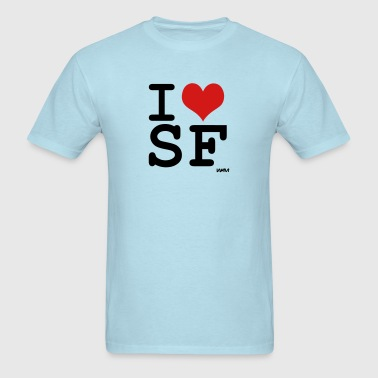i love sf by wam - Men's T-Shirt