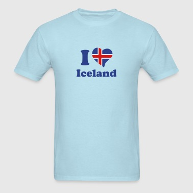 I love Iceland - Men's T-Shirt