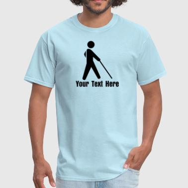 Blind Man - VECTOR - Men's T-Shirt
