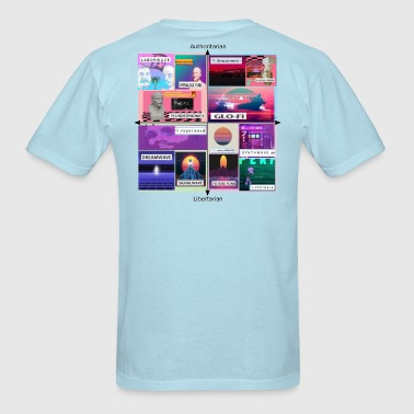 Vaporwave Political Compass Meme Aesthetic - Men's T-Shirt