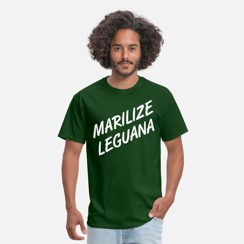 Marijuana T-Shirts - Marilize Leguana - Men's T-Shirt forest green