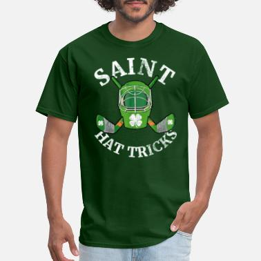 St Saint Hattrick s Hockey St Patrick s Day Shamrock - Men's T-Shirt