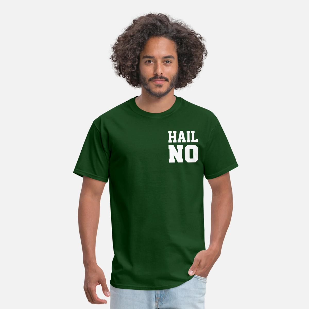 Skull in Hat Forest Green Adult Standard Weight T-Shirt for Men