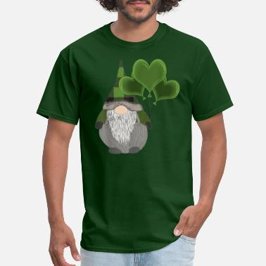 New Heart Funny Cute Irish Gnome - Men's T-Shirt