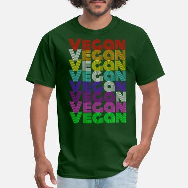 80s 70s Vegan Retro 70s 80s - Men's T-Shirt