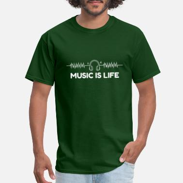 Electronica Music is life - Men's T-Shirt