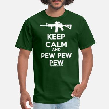 Keep Calm Pew White - Men's T-Shirt