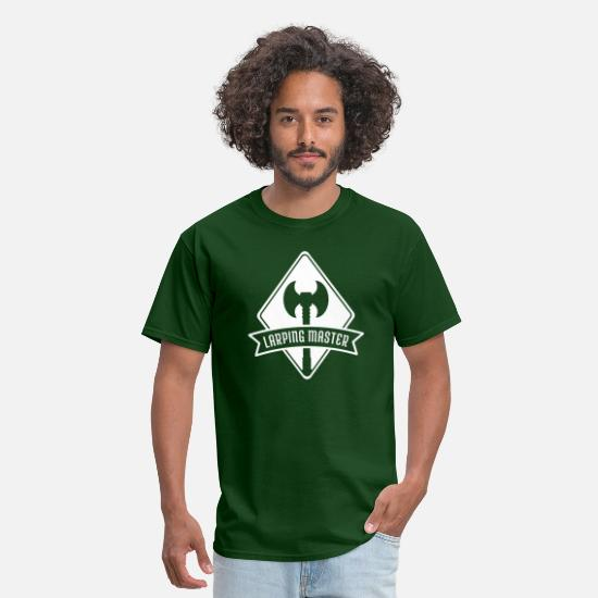 Age T-Shirts - Larp Knight Mage Warrior Live Action RPG - Men's T-Shirt forest green