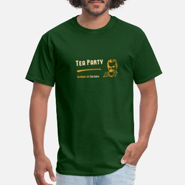 Tea Jokes Tea Party Funny Joke Design - Men's T-Shirt
