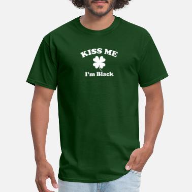 Saint St Patricks Day Ireland Flag Lucky Green Clover Black Tee Shirt Tshirt
