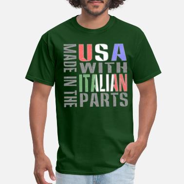 Made in USA Italian Parts - Men's T-Shirt