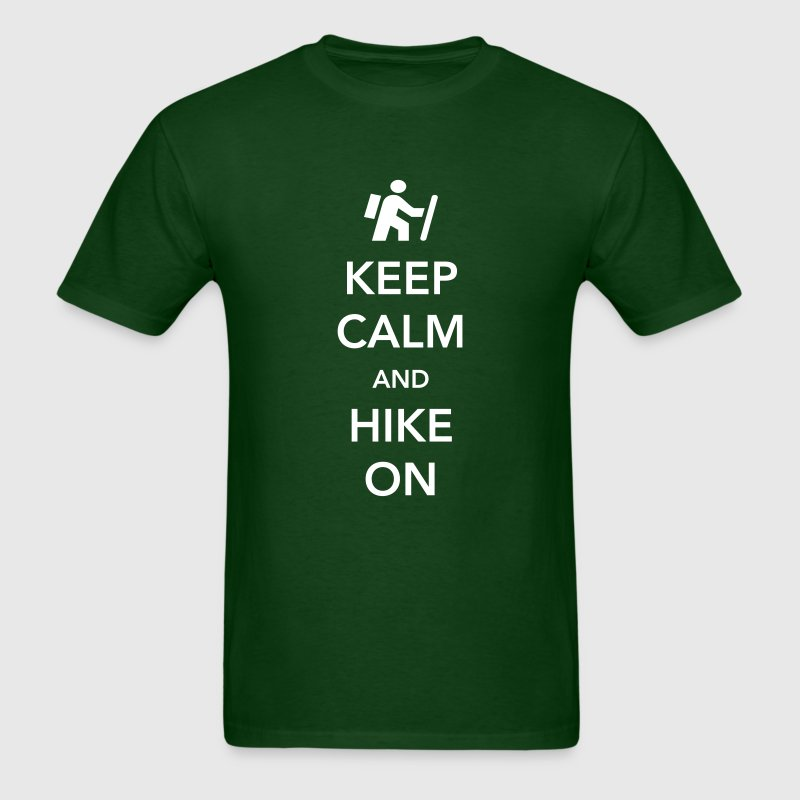 Keep Calm and Hike On - Men's T-Shirt