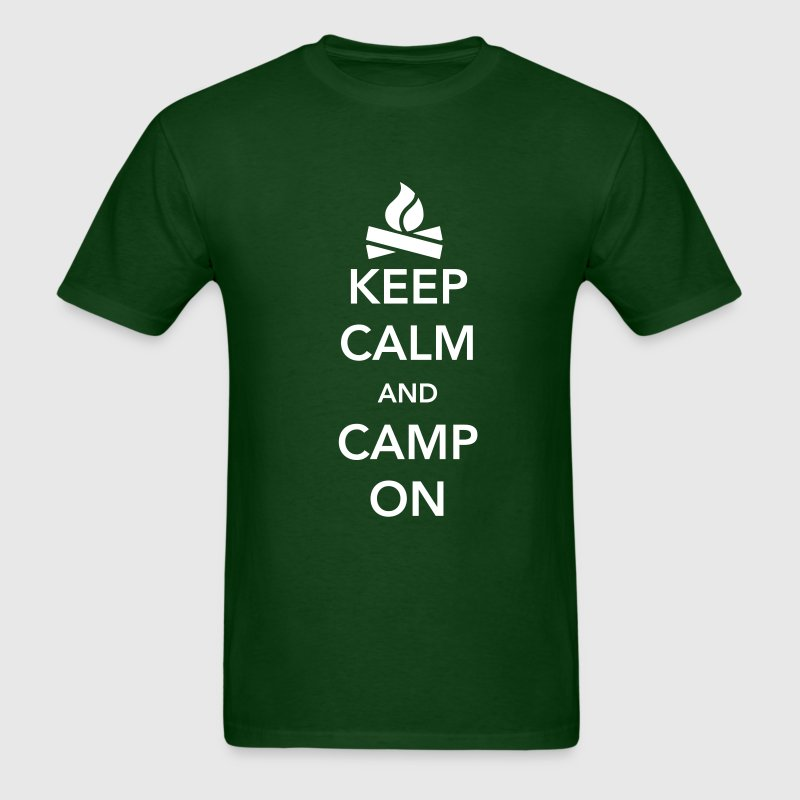 Keep Calm and Camp On - Men's T-Shirt