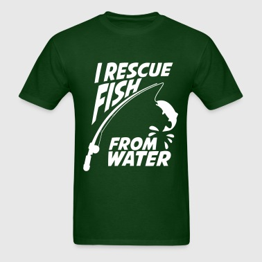 I RESCUE FISH FROM WATER - Men's T-Shirt