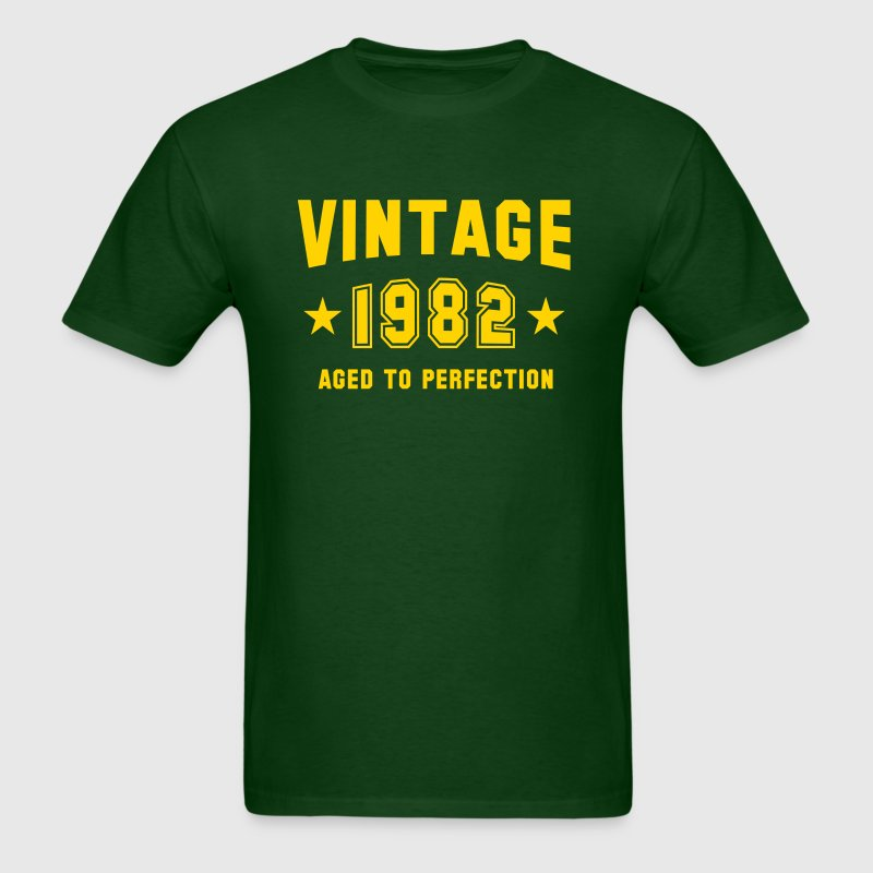 VINTAGE 1982 - Aged To Perfection - Birthday - Men's T-Shirt