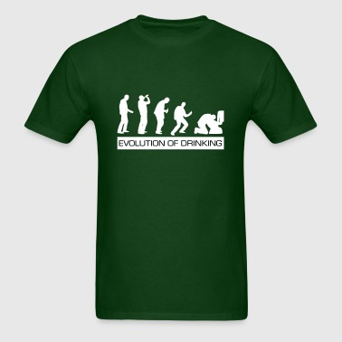 Evolution of Drinking - Men's T-Shirt