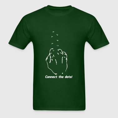 Connect the Dots - Fuc$ You Middle Finger - Men's T-Shirt