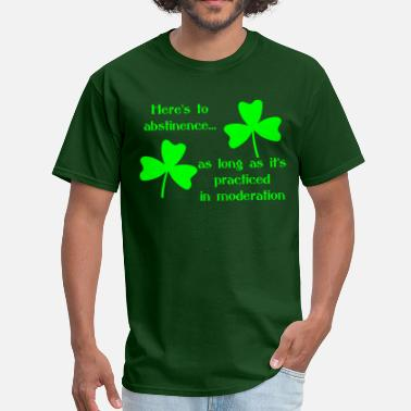 252fe013c Abstinence Abstinence Shamrock - Men's T-Shirt