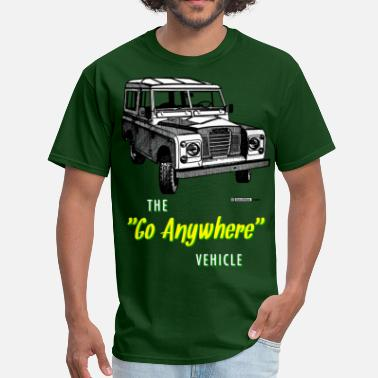 Land Land Rovers Go Anywhere - Men's T-Shirt