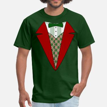 2a936aef6a Funny Christmas Tuxedo, Red and Green Tux - Men's T-