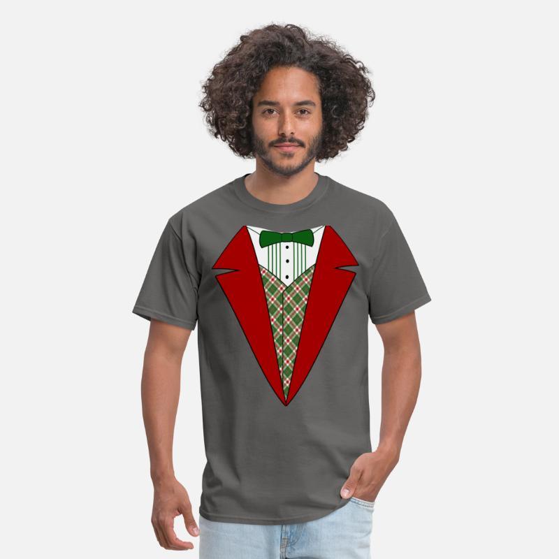 fe32fe77 Funny Christmas Tuxedo, Red and Green Tux Men's T-Shirt   Spreadshirt