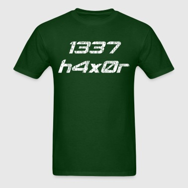 Leet Haxor 1337 Computer Hacker - Men's T-Shirt