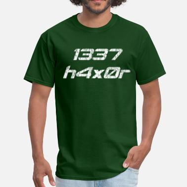 Leet-speak Leet Haxor 1337 Computer Hacker - Men's T-Shirt