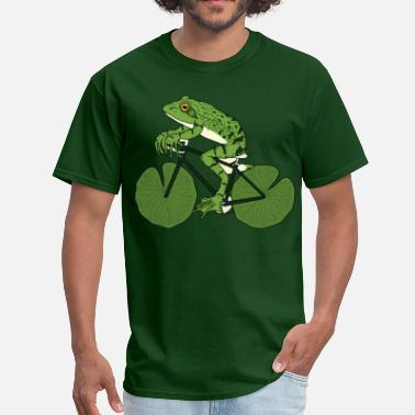 Lilly Animal Frog Riding Bike With Lily Pad Wheels - Men's T-Shirt
