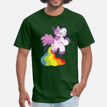 Unicorn Pooping Rainbows Unicorn Magical Rainbow Poop - Men's T-Shirt