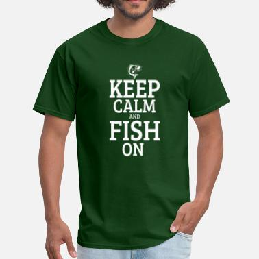 Fishing Clothes Keep calm and fish on - Men's T-Shirt