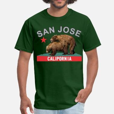 San Jose California san_jose_blacksilver - Men's T-Shirt