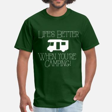 Life's Better Camping - Men's T-Shirt