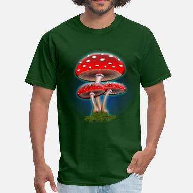 Red Mushroom Red Mushrooms - Men's T-Shirt
