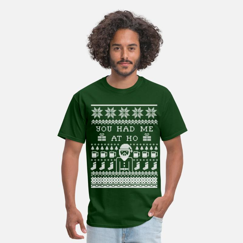 Christmas T-Shirts - Ugly Christmas Sweater - Men's T-Shirt forest green