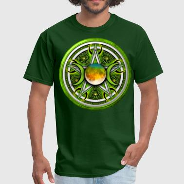 Green Moon Pentacle - Men's T-Shirt