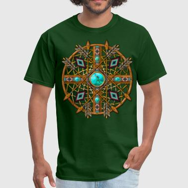 Seed Bead Tribal Mandala 08 - Men's T-Shirt