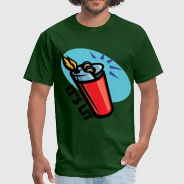 Old School Detroit It's Lit retro lighter - Men's T-Shirt