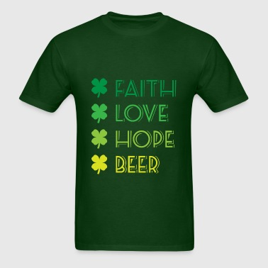 lucky clover St Patricks Day - Men's T-Shirt
