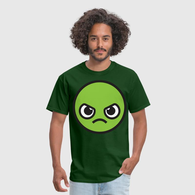 Kawaii Angry Face - green - Men's T-Shirt