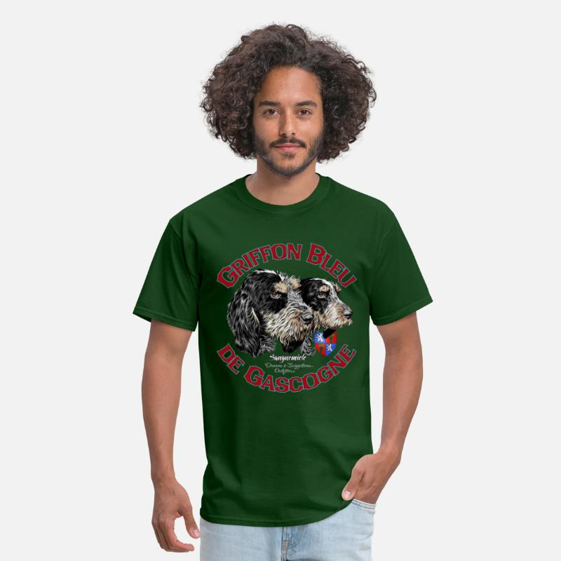 Dog T-Shirts - griffon bleu de gascogne - Men's T-Shirt forest green