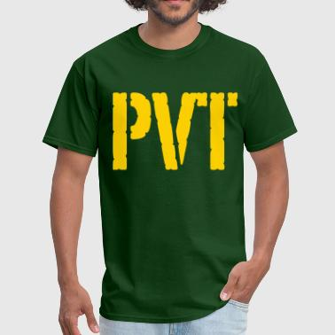 Private Rank PVT military rank - Men's T-Shirt