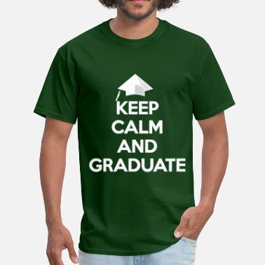 Graduation Keep Calm and Graduate white - Men's T-Shirt