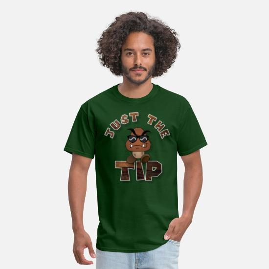 Wood T-Shirts - Just The TIP WooD - Men's T-Shirt forest green