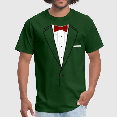 Formal Wear Tuxedo Red Bowtie - Men's T-Shirt
