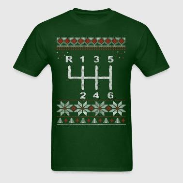 6 Speed Gear Shift Xmas - Men's T-Shirt
