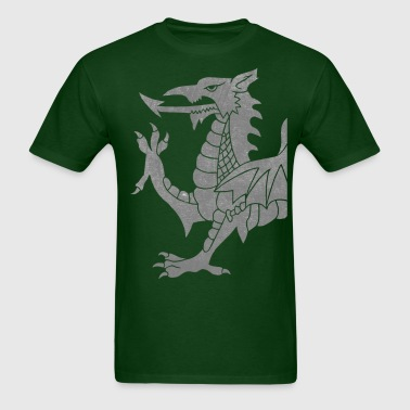 Grey Cymru Dragon - Men's T-Shirt