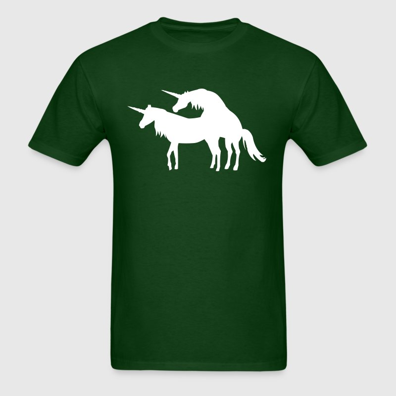 unicorns mating - Men's T-Shirt
