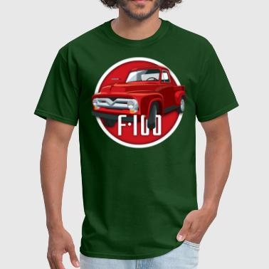 Ford Illustration of a second generation red Ford F-100 - Men's T-Shirt